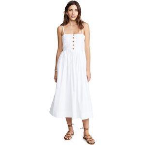 Free People Lilah Pleated Tube Dress White Poplin